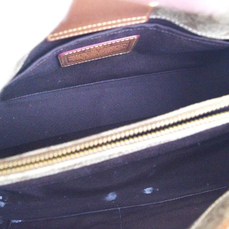 28fdc0ea252 Coach COACH signature handbag shoulder bag 2WAY bag brown PVC leather  F34608 08HD302