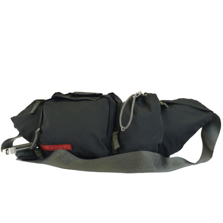 15f465c1dd23 37BF182 with the Prada sports PRADA SPORT waist porch body bag gray nylon  preservation bag