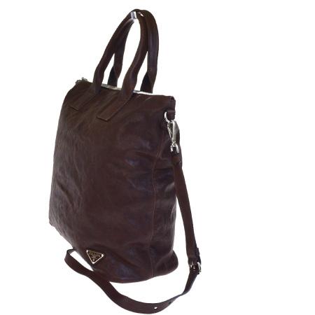 f83e71d10e0 86EG207 with the Prada PRADA tote bag handbag shoulder bag 2WAY bag brown  leather preservation bag