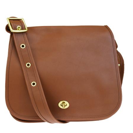 dcc900820b Super beautiful article coach old COACH shoulder bag turn lock brown full  leather 09525 04HD360