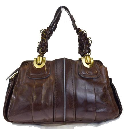 【中古】 クロエ Chloe ショルダーバッグ ハンドバッグ ブラウン レザー 保存袋付き 66EJ130