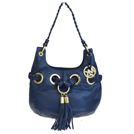 7f0a268b2b3f Middle beauty product Michael Kors MICHAEL KORS shoulder bag fringe navy  leather 09HD544 ...