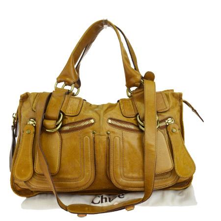 送料無料 【中古】 クロエ Chloe ハンドバッグ ショルダーバッグ 2WAYバッグ ブラウン レザー 保存袋付き 05EJ801