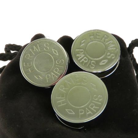 【新品】 3点セット エルメス HERMES スカーフリング セリエ チャーム アクセサリー シルバー メタル 66EK076