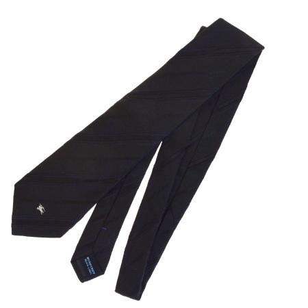 送料無料 【中古】 超美品 バーバリーブラックレーベル BURBERRY BLACK LABEL ネクタイ ブラック シルク 100% メンズ 07HD759
