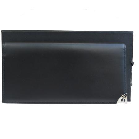 【中古】 外美品 ダンヒル dunhill 二つ折り 札入れ カード入れ 長財布 ブラック レザー 保存箱付き 60HD763