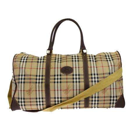 bbc80eabd4f Burberry BURBERRY Boston bag hand shoulder traveling bag 2WAY Novacek beige  brown PVC leather 04EK956 ...