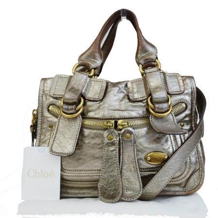 【中古】 クロエ Chloe ベイ ハンドバッグ ショルダーバッグ 2WAY ゴールド レザー 保存袋付き 07HD896