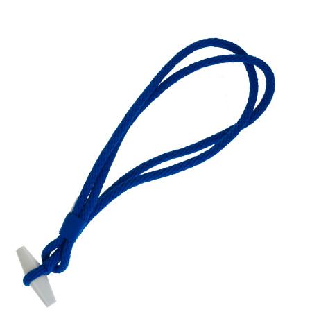 【中古】 超美品 エルメス HERMES 伸縮ロープ ブルー ポリアミド エラスタン 09EP192