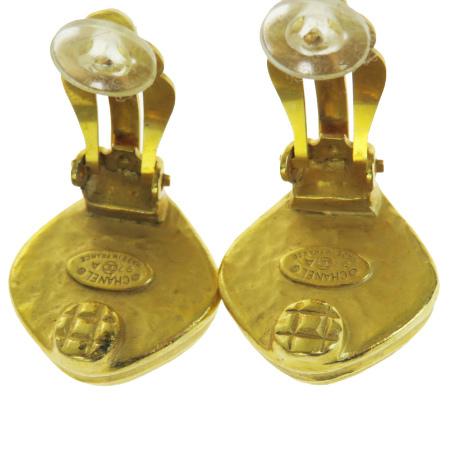 超美品 シャネル CHANEL イヤリング ココマーク ゴールド プラスチック メタル 97A 66EP030WE2HID9