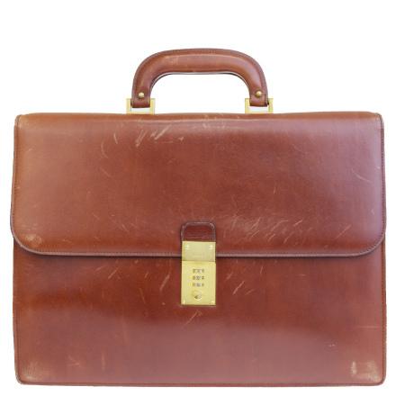 【中古】 バリー BALLY ブリーフケース ビジネスバッグ ハンド 書類かばん ブラウン レザー 08EQ481