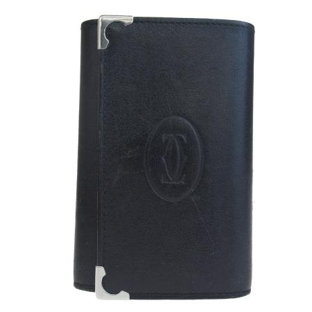 【中古】 カルティエ Cartier 6連キーケース 札入れ 財布 ブラック レザー 01EQ633