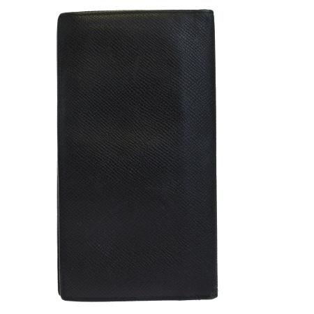 【中古】 ブルガリ BVLGARI 二つ折り 札入れ カード入れ 長財布 ブラック レザー 01BG149