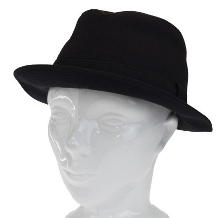 【中古】 エルメス HERMES ハット 帽子 ブラック コットン エラスタン サイズ58 05BG317