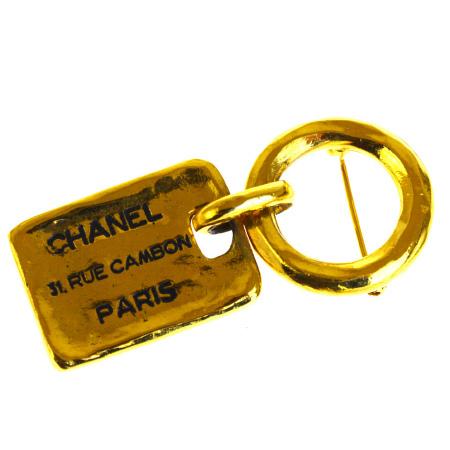 【中古】 美品 シャネル CHANEL ピンブローチ ゴールド メタル 1133 68BG434