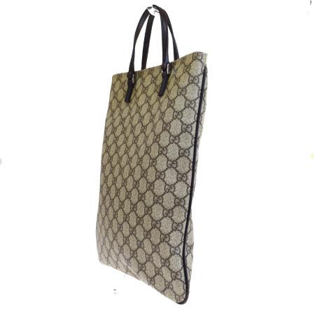 グッチ GUCCI ハンドバッグ トート GG柄 ブラウン PVC レザー 保存袋付き 68ER657shBQdCxrt