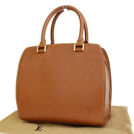 【中古】 美品 ルイヴィトン LOUIS VUITTON サブロン ハンドバッグ エピ ケニアブラウン レザー 保存袋付き M52043 76ER963