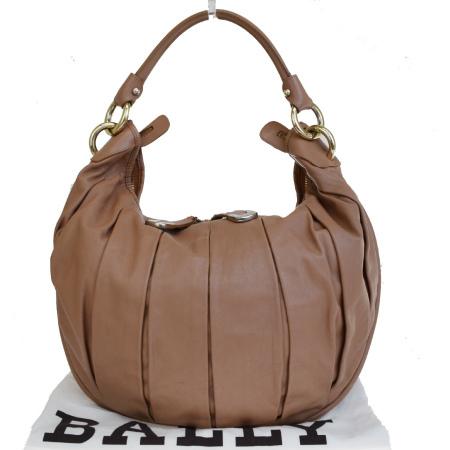 【中古】 中美品 バリー BALLY ショルダーバッグ ブラウン レザー 保存袋付き 01ES089