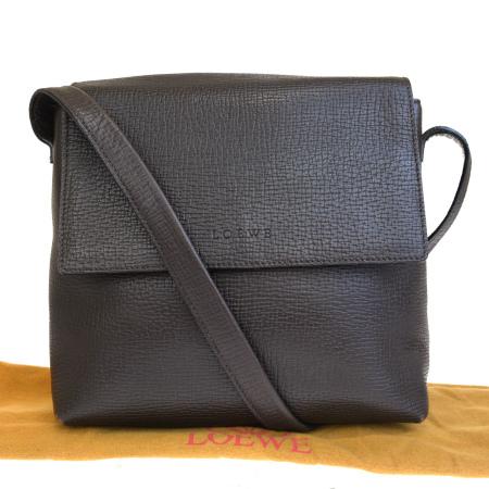 【中古】 中美品 ロエベ LOEWE ショルダーバッグ ブラウン レザー 保存袋付き 02BJ920