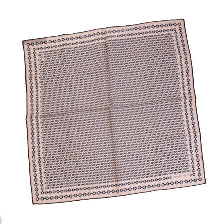 【中古】 超美品 エルメス HERMES スカーフ ピンク シルク 100% 01SA121