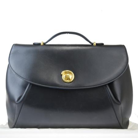 送料無料 【中古】 中美品 カルティエ Cartier パンテール ハンドバッグ ブラック レザー 保存袋付き 33EX949