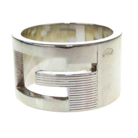 送料無料 【中古】 グッチ GUCCI 指輪 リング シルバー 925 12号 06BK126
