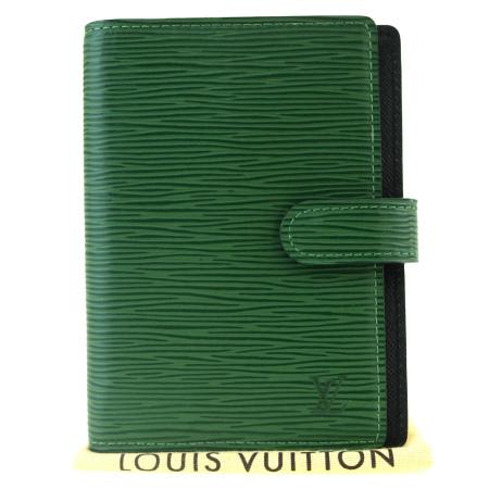 送料無料 【中古】 ルイヴィトン LOUIS VUITTON アジェンダ PM 手帳カバー エピ ボルネオグリーン レザー R20054 01BK174