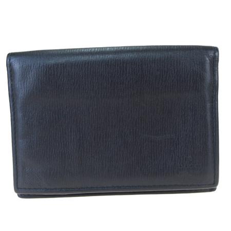 送料無料 【中古】 グッチ GUCCI カードケース 名刺入れ パス 定期 ブラック レザー 03BK412