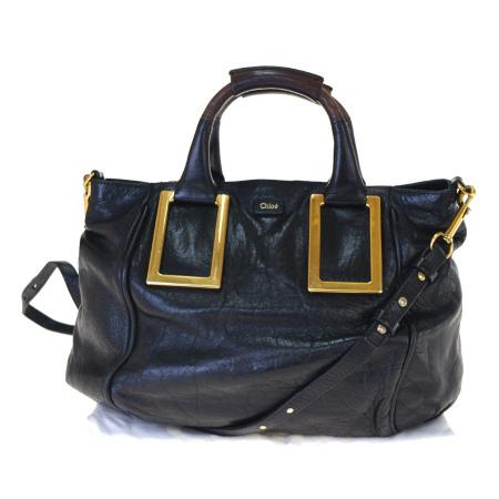 【中古】 クロエ Chloe エテル ハンドバッグ ショルダー 2WAY ブラック レザー 保存袋付き 05BK901