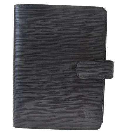 毎日 新商品を続々入荷しています 中古 希少 外美品 ルイヴィトン LOUIS VUITTON アジェンダ ブラック エピ 62MG087 ノワール 再入荷 予約販売 レザー 手帳カバー MM R20042