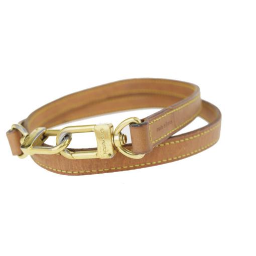 【中古】 ルイ・ヴィトン(Louis Vuitton) ストラップ ブラウン バッグ用 09GA999