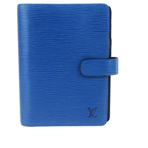 【中古】 ルイ・ヴィトン(Louis Vuitton) エピ 手帳 トレドブルー アジェンダ MM R20045 04GB061