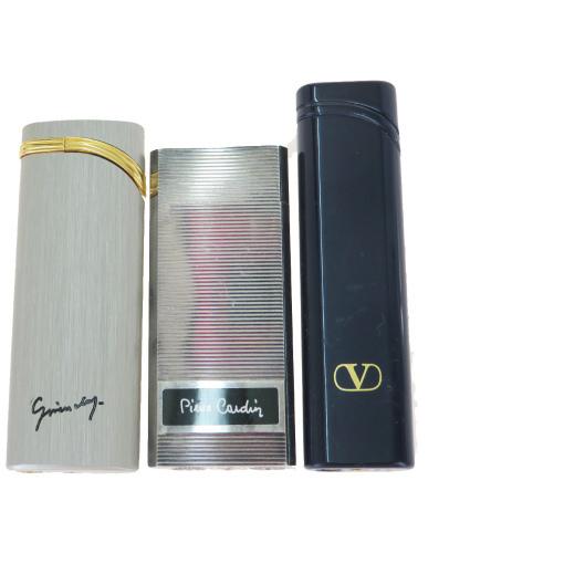 【中古】 ジバンシィ(Givenchy) たばこ用ライター 3点セット ヴァレンティノガラヴァーニ ピエールカルダン 03GB076