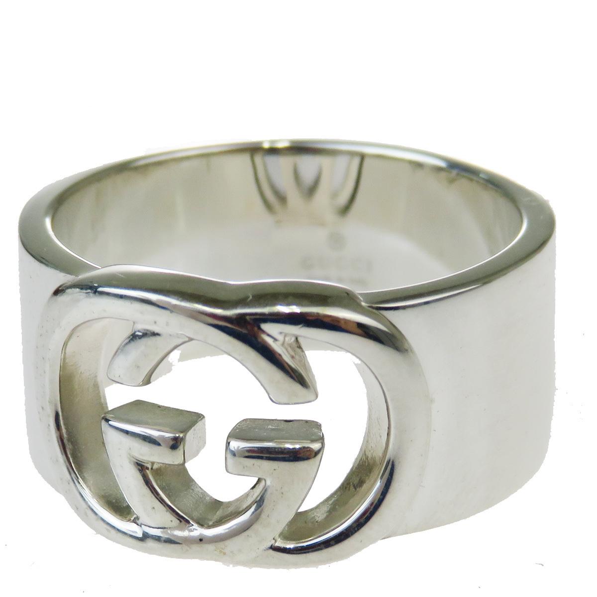 【中古】 グッチ(Gucci) JP サイズ 18 シルバー925 指輪・リング シルバー 07FA293
