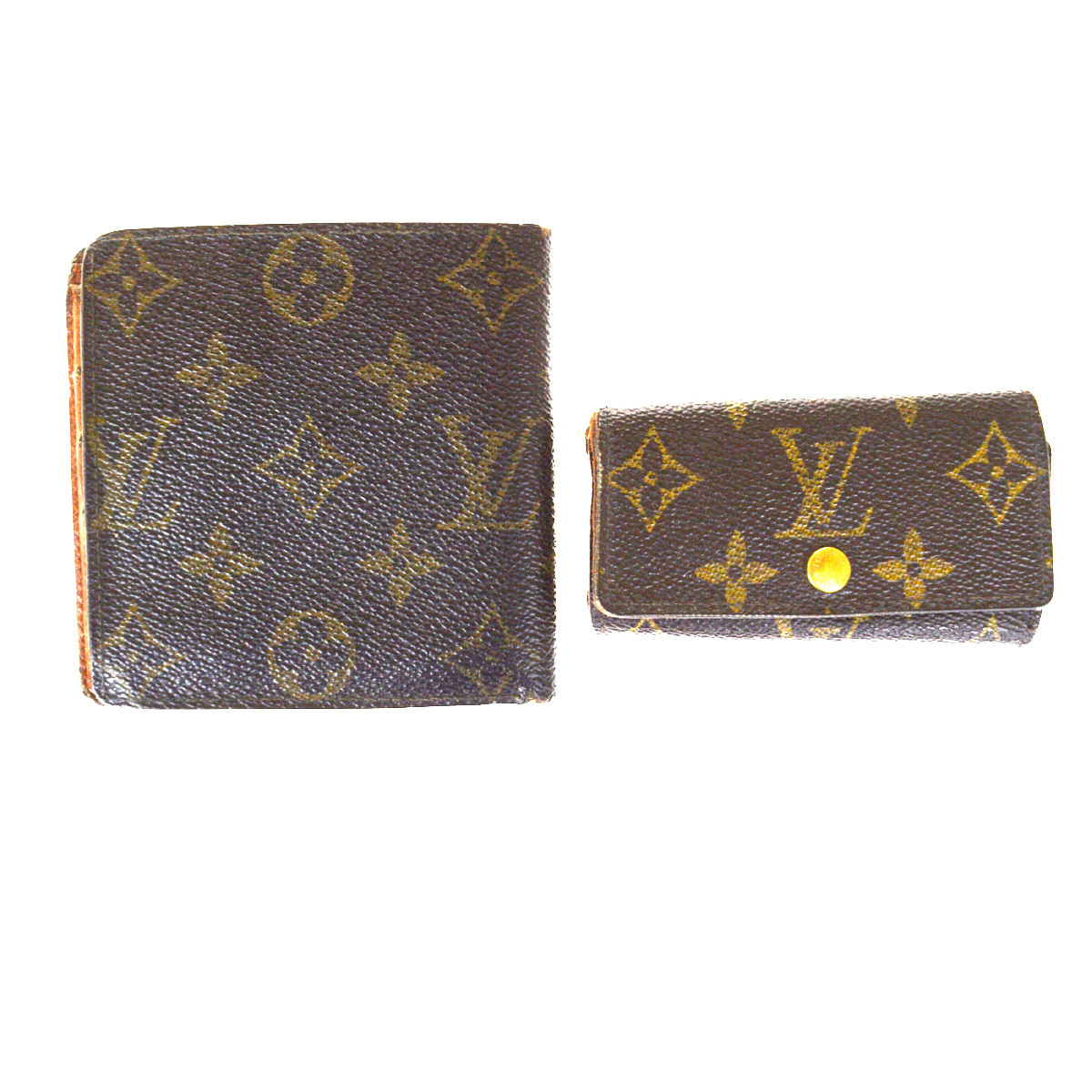 【中古】 ルイ・ヴィトン(Louis Vuitton) モノグラム 2セット 財布 モノグラム キーケース モノグラム 06FA459