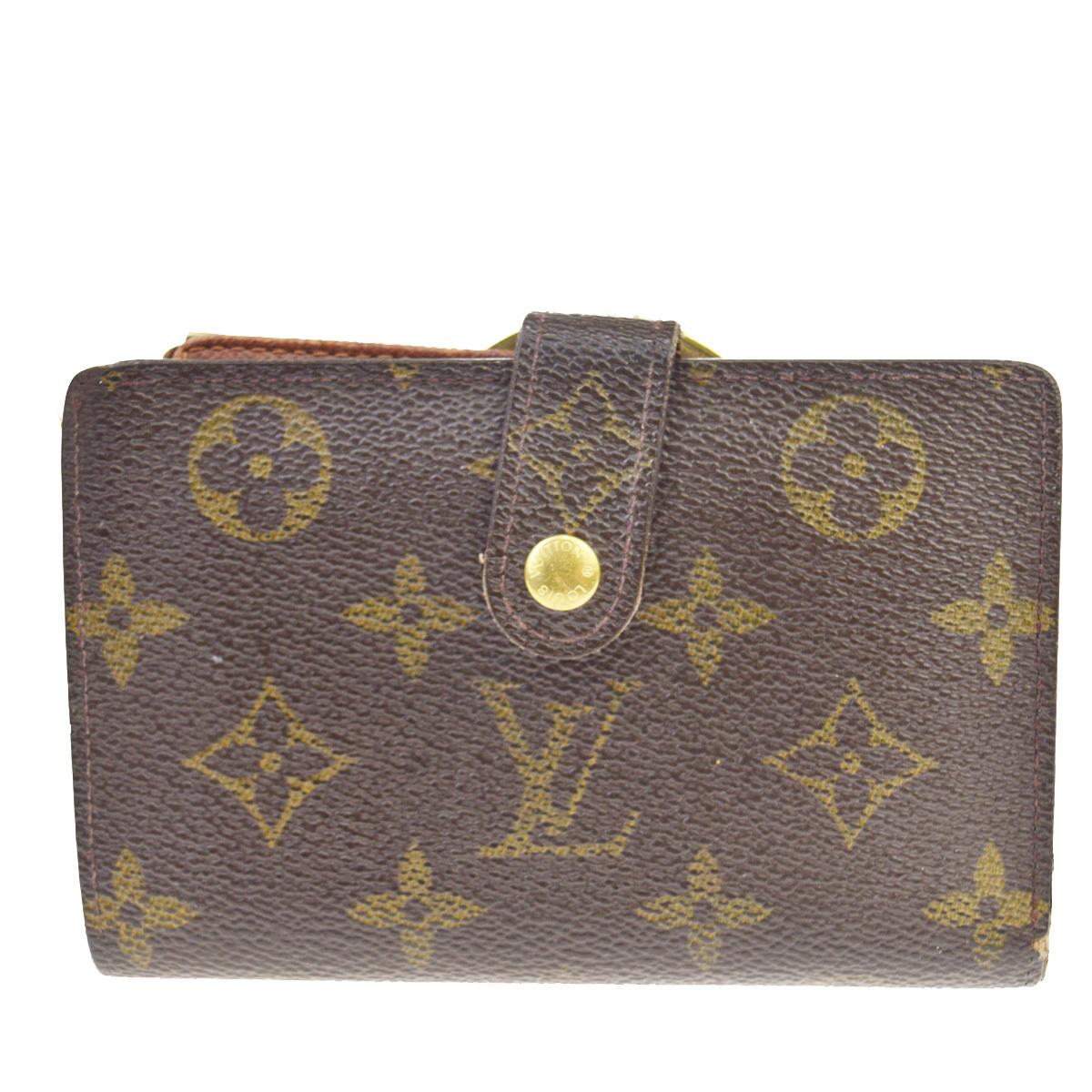 【中古】 ルイ・ヴィトン(Louis Vuitton) モノグラム M61674 ヴィエノワ モノグラム 中財布(二つ折り) ブラウン 08FA485