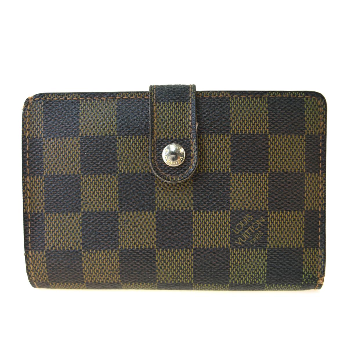 【中古】 ルイ・ヴィトン(Louis Vuitton) ダミエ ポルトフォイユ ビエノワ N61674 ダミエキャンバス 中財布(二つ折り) ブラウン 05PA190