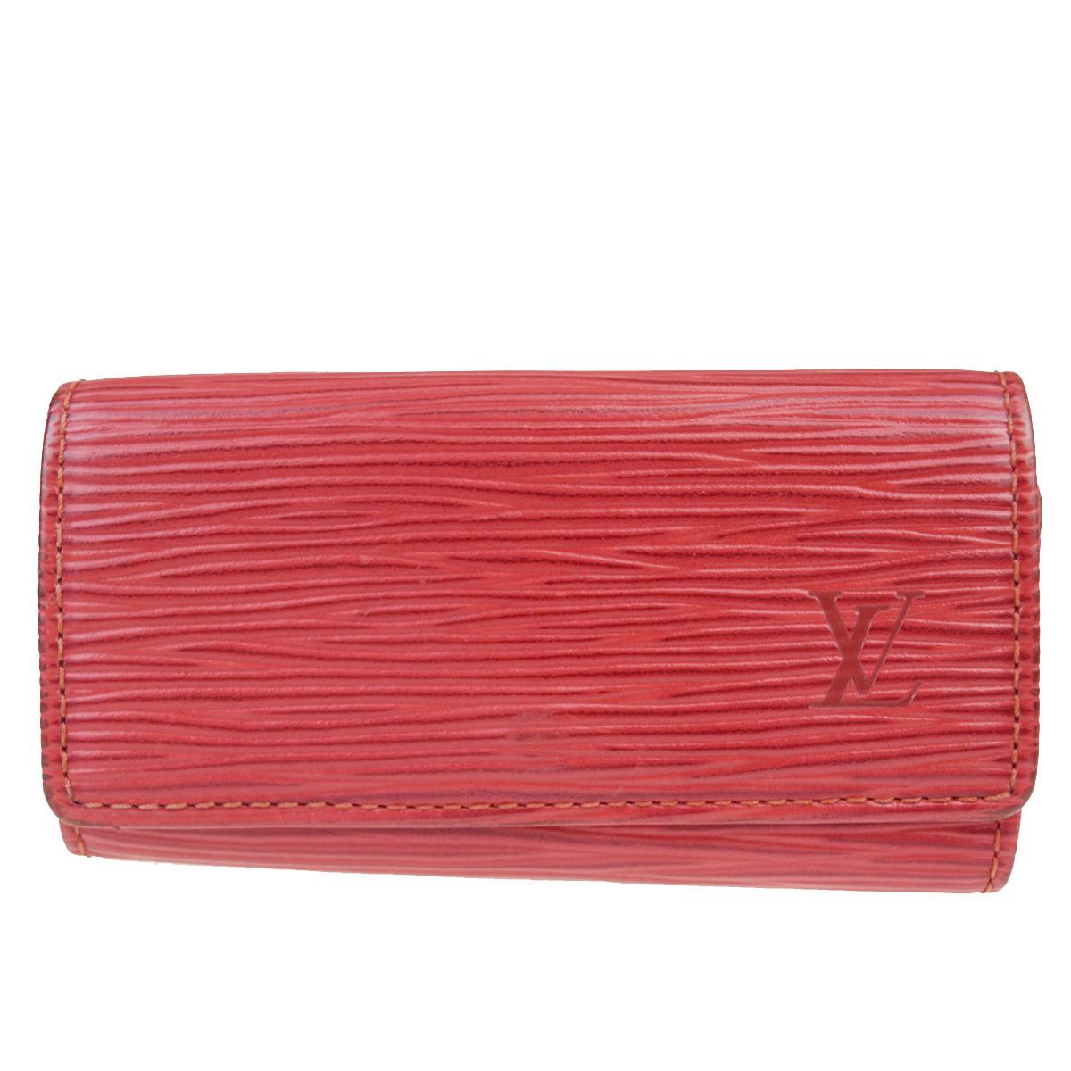【中古】 ルイ・ヴィトン(Louis Vuitton) エピ ミュルティクレ 4 M63827 エピレザー キーケース レッド 08FA585