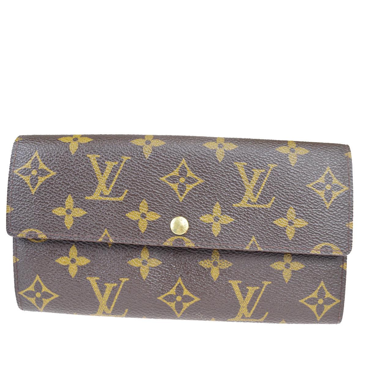 【中古】 ルイ・ヴィトン(Louis Vuitton) ポシェット ポルトモネ クレディ M61725 モノグラム 長財布(二つ折り) モノグラム 02FA668