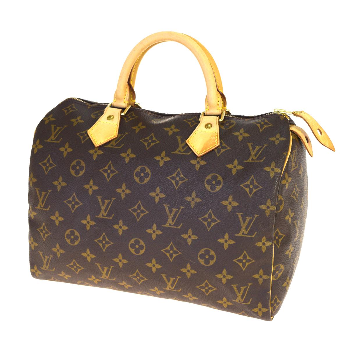 【中古】 ルイ・ヴィトン(Louis Vuitton) モノグラム スピーディ 30 M41108 ハンドバッグ ブラウン 32GB966