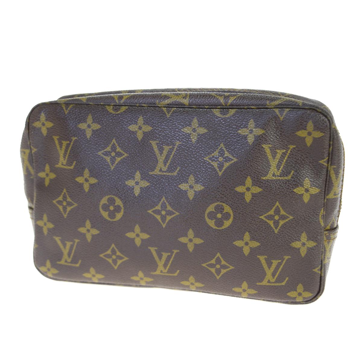 【中古】 ルイ・ヴィトン(Louis Vuitton) モノグラム トゥルース トワレット 23 M47524 クラッチバッグ ブラウン 60GB979