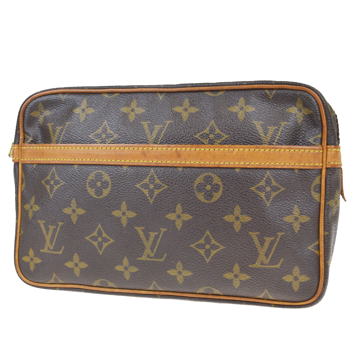 【中古】 ルイ・ヴィトン(Louis Vuitton) モノグラム M51847 コンピエーニュ 23 クラッチバッグ ブラウン 02FA825