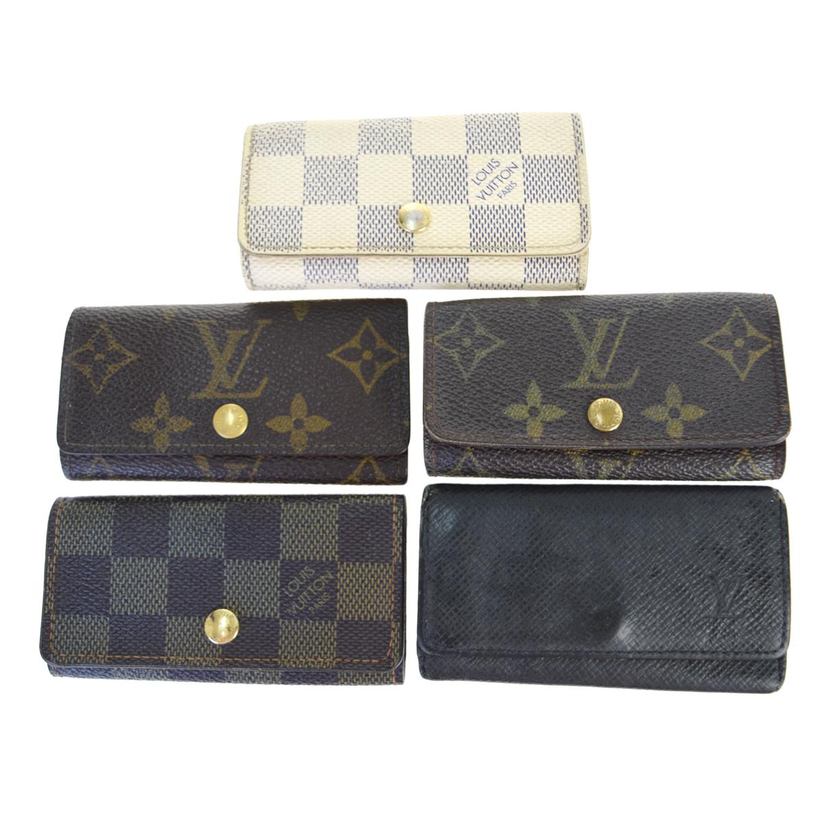 【中古】 ルイ・ヴィトン(Louis Vuitton) モノグラム 5点セット ミュルティクレ4 レザー キーケース ブラウン 05GC056