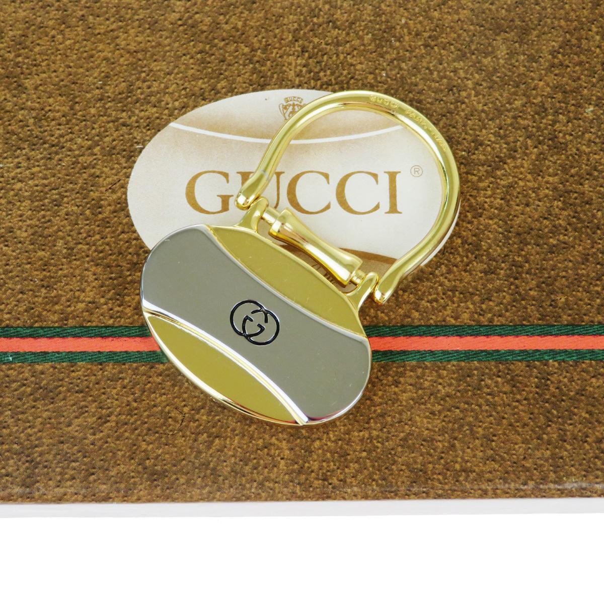 【中古】 グッチ(Gucci) バッグチャーム キーリング ファッション キーホルダー (ゴールド,シルバー) 07FA917