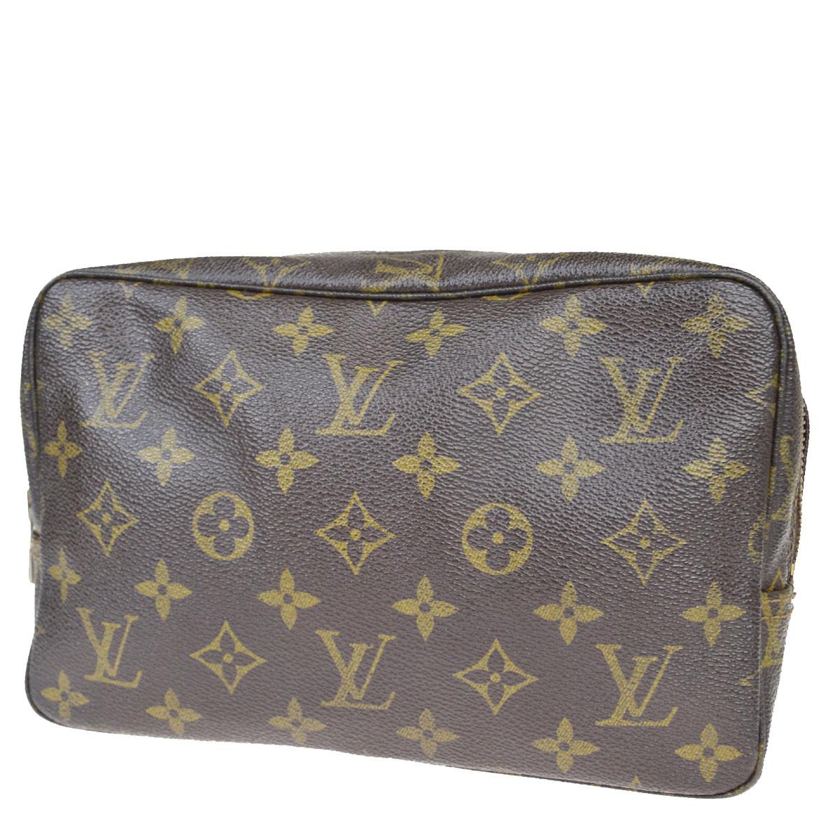 【中古】 ルイ・ヴィトン(Louis Vuitton) モノグラム トゥルース トワレット 23 M47524 クラッチバッグ ブラウン 02FB027