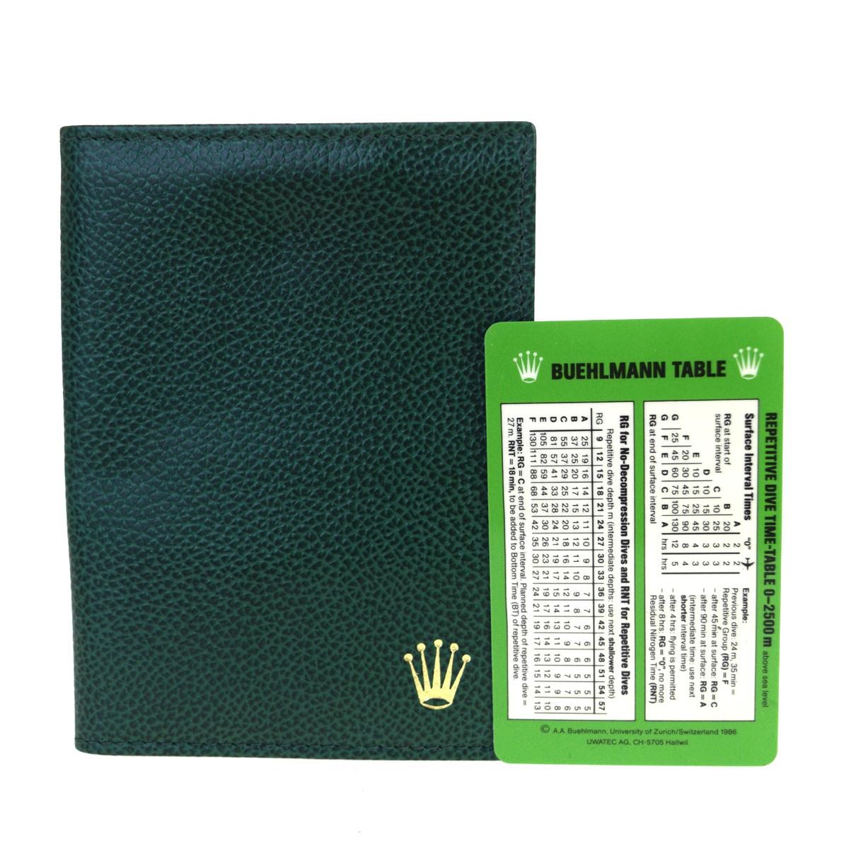 【中古】 (Unspecified) ロレックス レザー カードケース グリーン 03GC132