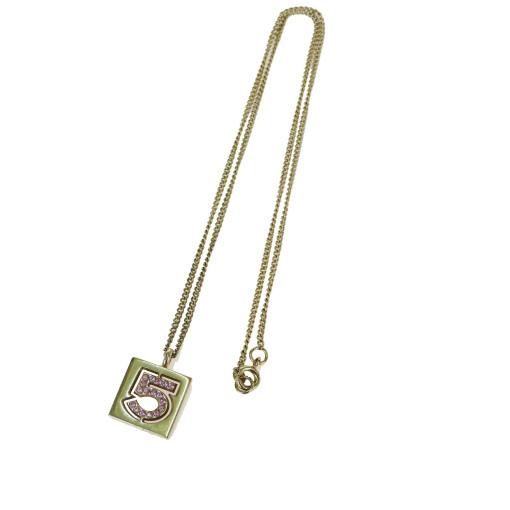 メタル 【中古】 (ゴールド) シャネル(Chanel) ラインストーン No.5 ペンダントネックレス 02P 09GB092
