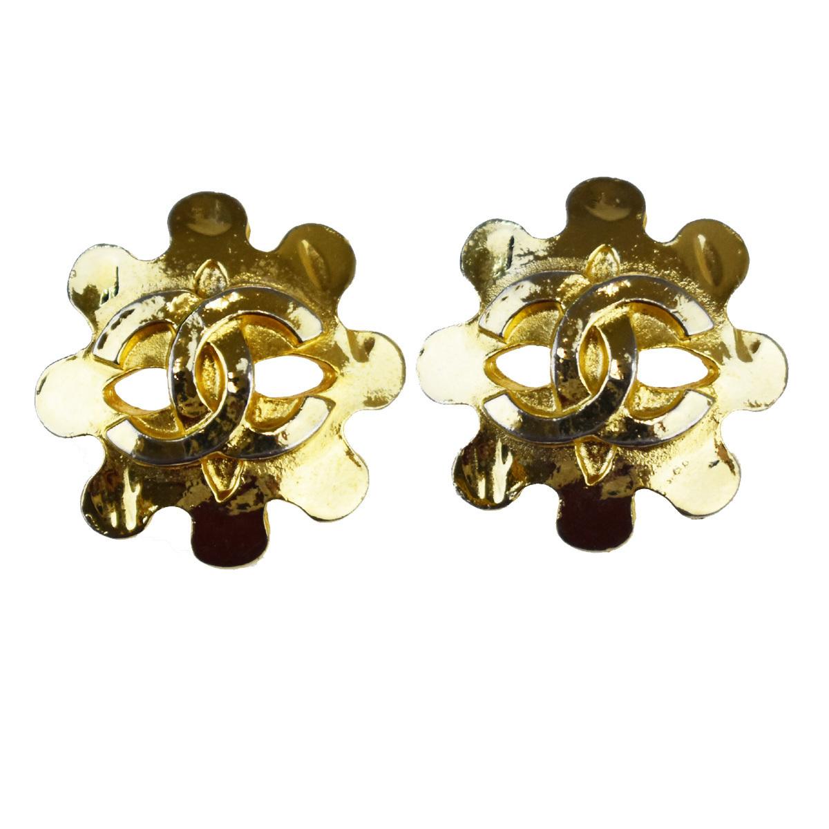 【中古】 ココ 04D メタル ゴールド シャネル(Chanel) 07FB664 CC クリップイヤリング