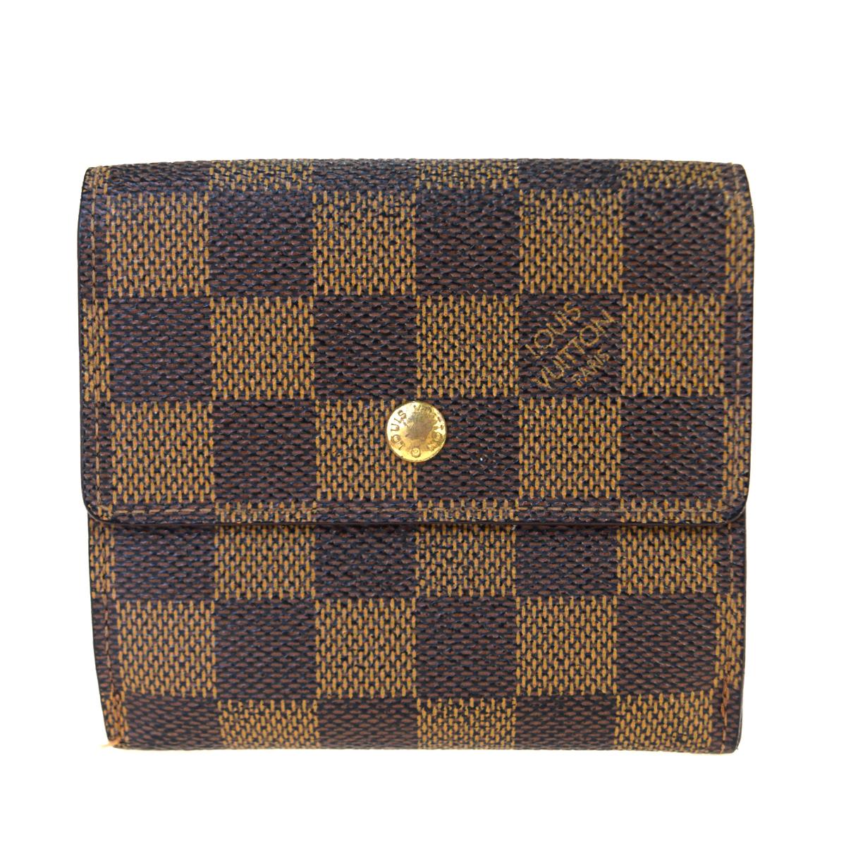【代引き不可】 【】 ルイ・ヴィトン(Louis Vuitton) ダミエ エベヌ ポルトモネ ビエ カルト クレディ N61652 PVC,レザー 財布(三つ折り) ダミエ 08GC048, 穴あき包丁屋さん c27f5355