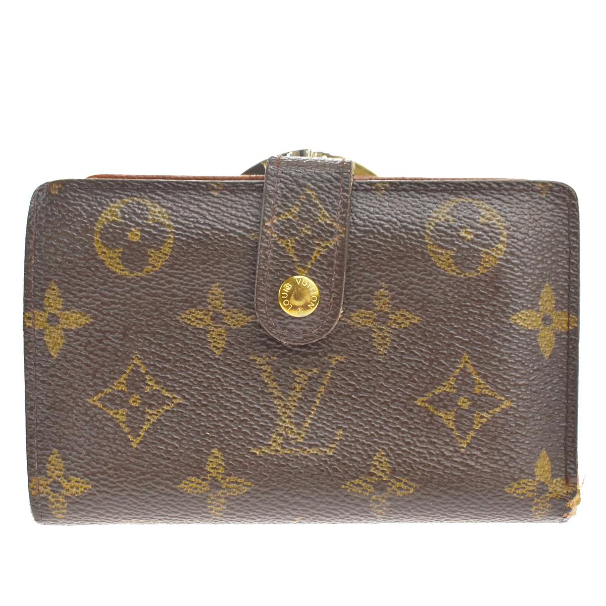 中古 ルイ ヴィトン Louis Vuitton モノグラム ポルトフォイユ 通販 激安 ヴィエノワ PVC 二つ折り M61674 財布 07GC752 レザー ブラウン 数量限定アウトレット最安価格
